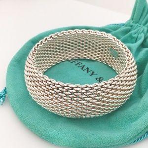 Tiffany Extra Wide Somerset Mesh Bangle Bracelet